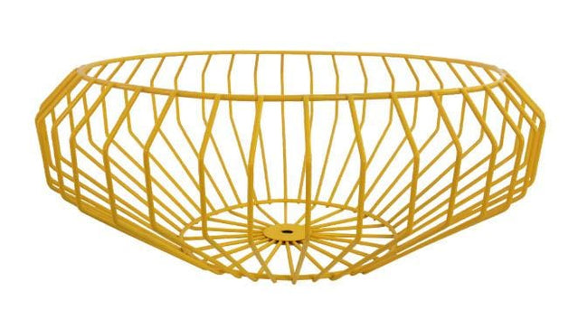 Segment Wire Bowl in Yellow