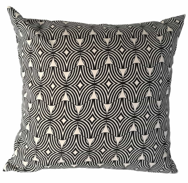 Shields Black Cushion Cover