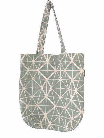 Bemba Blocks Charcoal Shopper Bag
