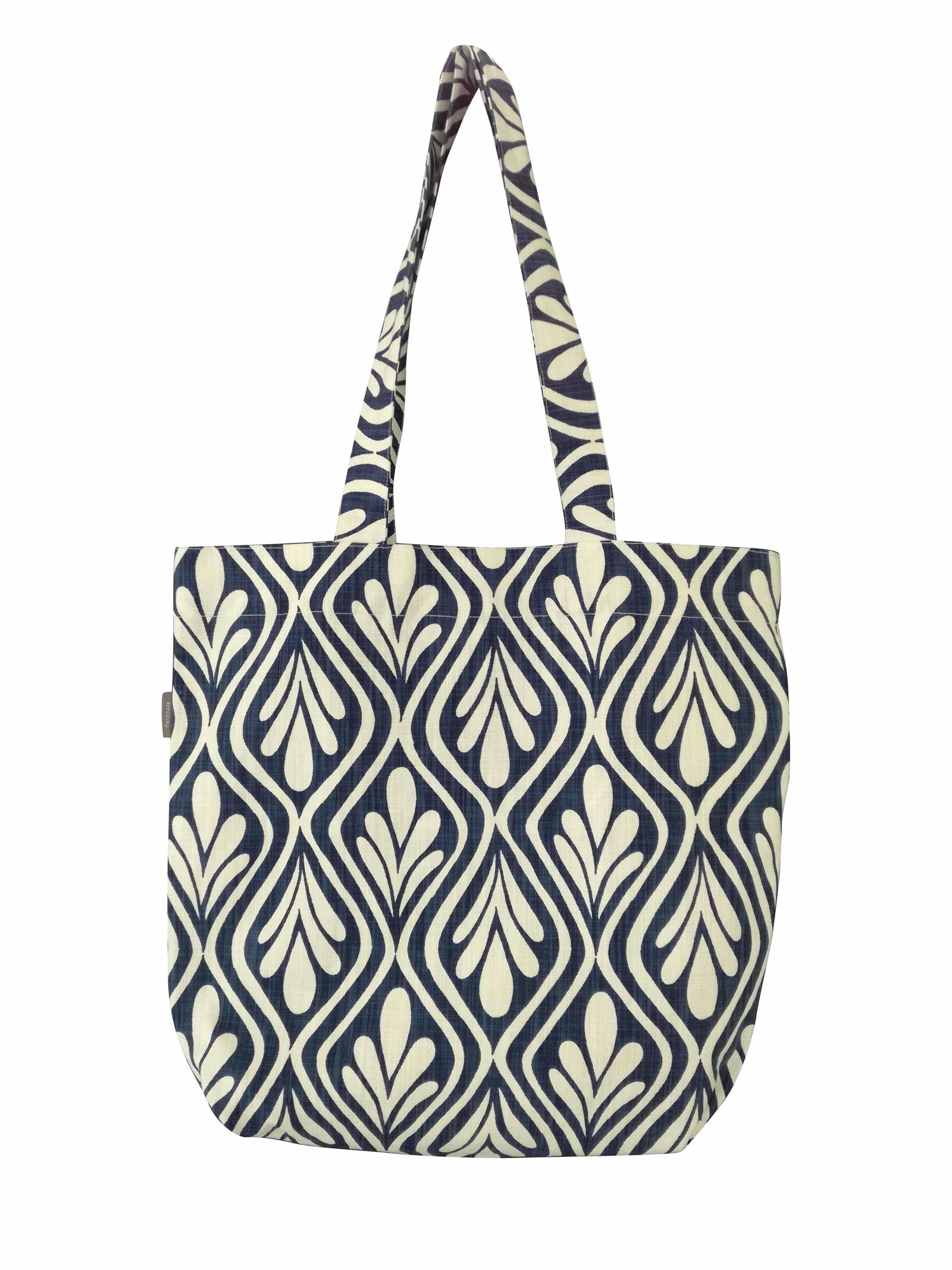 Henna Leaves Indigo Shopper Bag