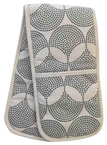 Dogon Weave White Double Oven Glove