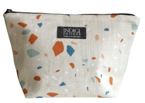 Birds White Cosmetic Bag Large