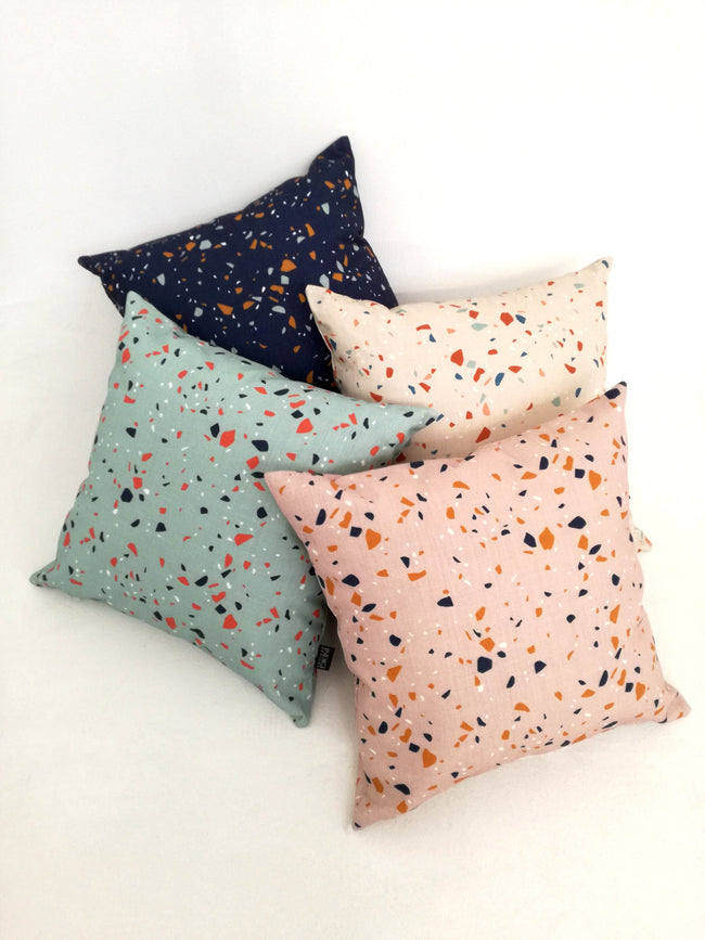 Digital Terrazzo Duck Egg Cushion Cover