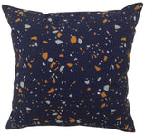 Digital Terrazzo Navy Cushion Cover