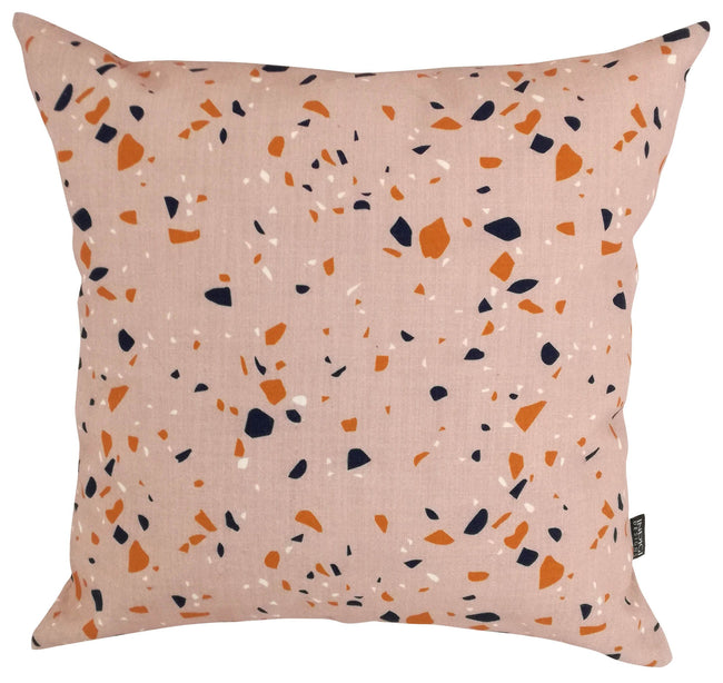 Digital Terrazzo Nude Pink Cushion Cover