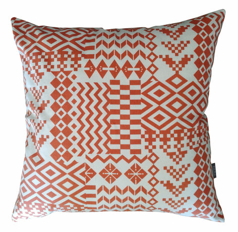 Ndemetric Deep Red Cushion Cover