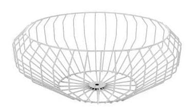 Segment Wire Bowl in White