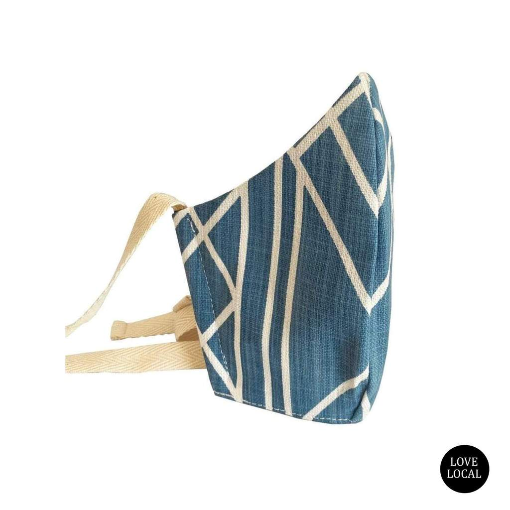 FABRIC FACE MASK - DECO INDUSTRIAL BLUE