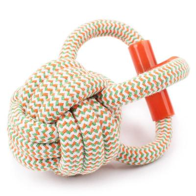 4 Loop Cotton Rope Ball M/L Dogs