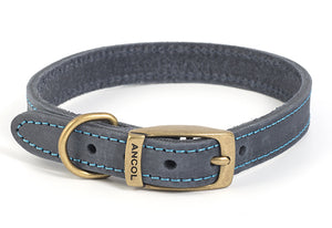 Timberwolf Leather Collar Blue