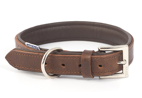 Ancol Vintage Leather Padded Collar