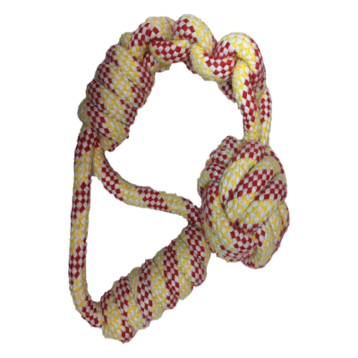 Braided Rope and Ball Handle M/L Dogs