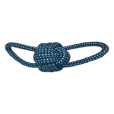 Cotton Rope Ball Double Ended Loop M/L Dogs