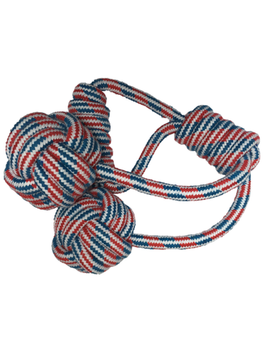 Double Rope Ball and Handle M/L Dogs