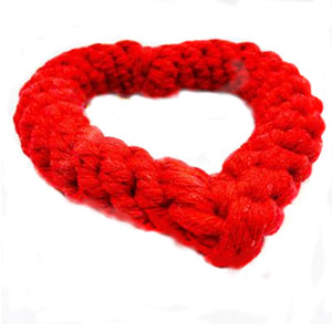 Love Heart Rope Dog Toy