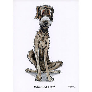 """What did I do?"" Greeting Card"