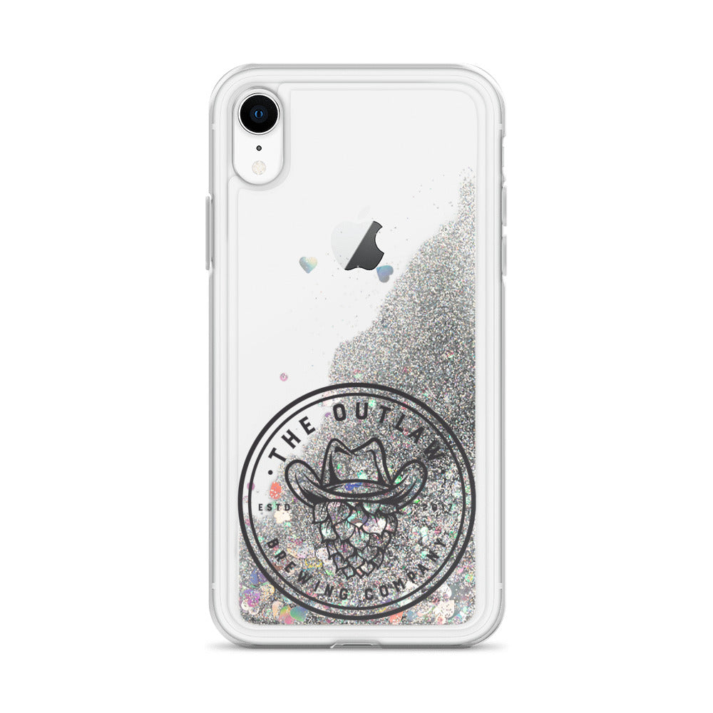 Outlaw Black Logo Liquid Glitter Phone Case