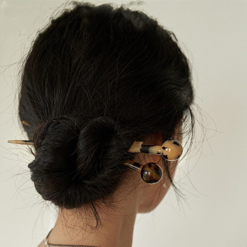 Leopard Hair Chopsticks