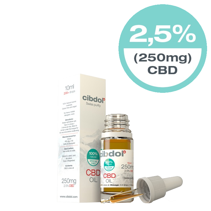 Cibdol - Mild 2.5% CBD Oil (10ml)