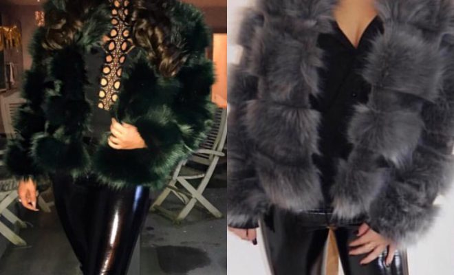 ea6d0aa42a9 Dark Grey and Bottle Green Faux Fur Coats are Back! – allfromgrace
