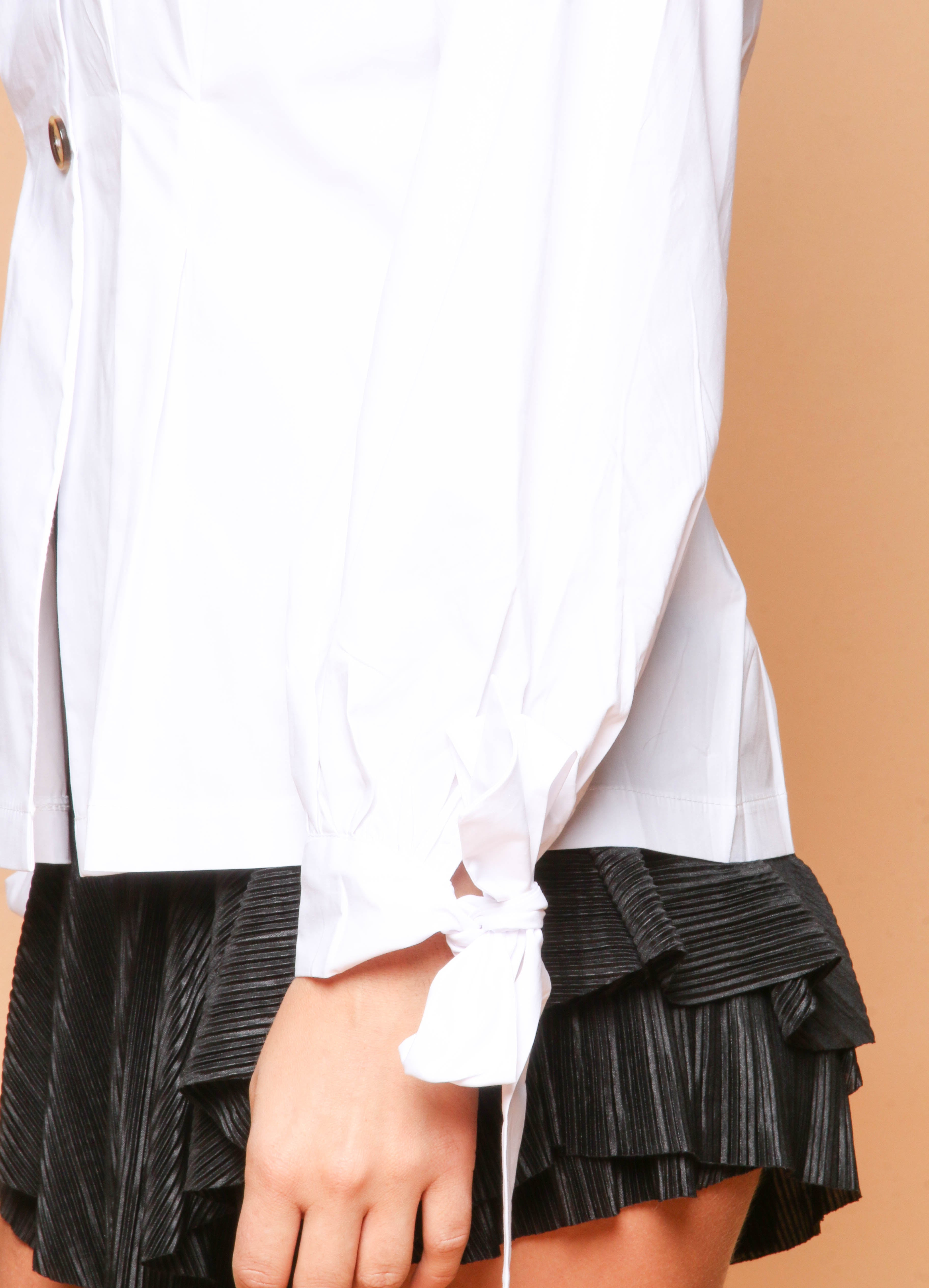 White Blouse With Button Detailing