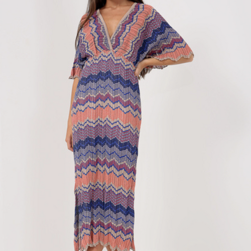 Multi Coloured Zig Zag Dress