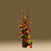 Lighted Branches Brown 20 LED Amber Lights 17 inches