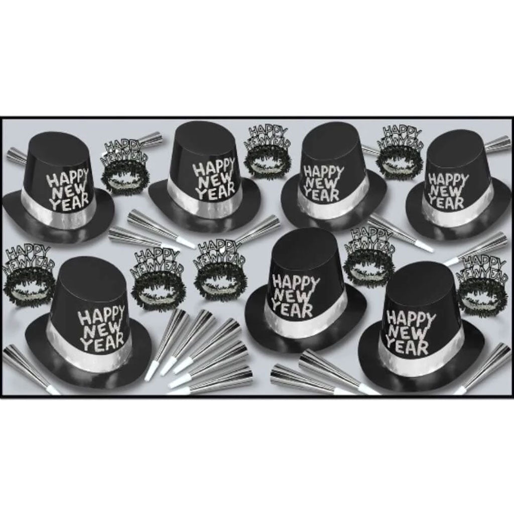 New Year Party Kit Black Tie Assorted for 50