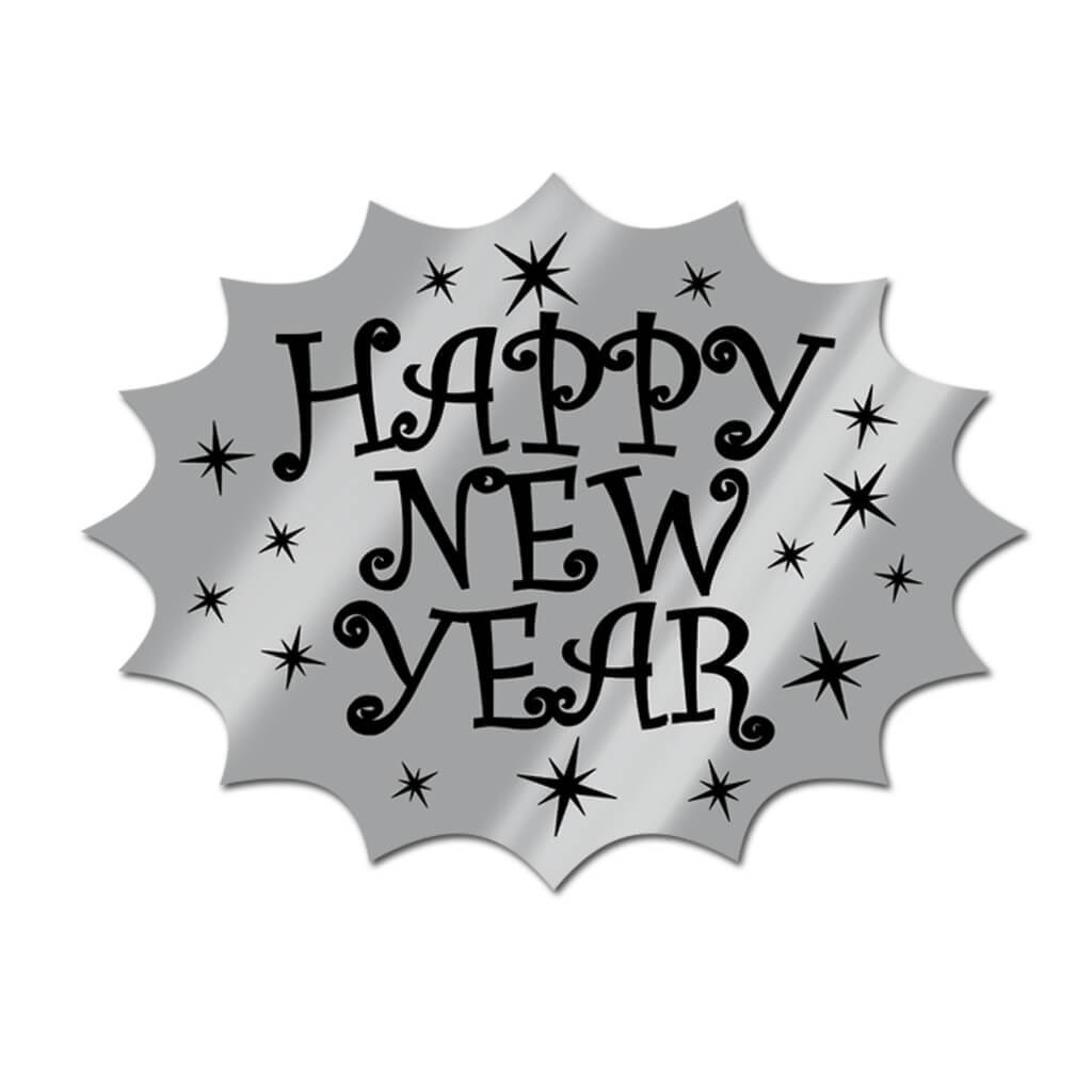 Foil Happy New Year Cutout