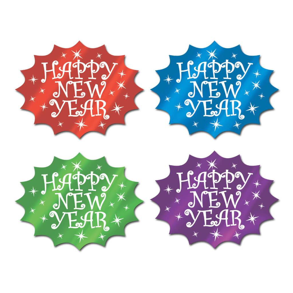 Foil Happy New Year Cutouts