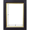 BLACK GOLD LIP PICTURE FRAMES 5IN X 7IN