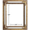 WHITE / GOLD PICTURE FRAMES 14in x 18in