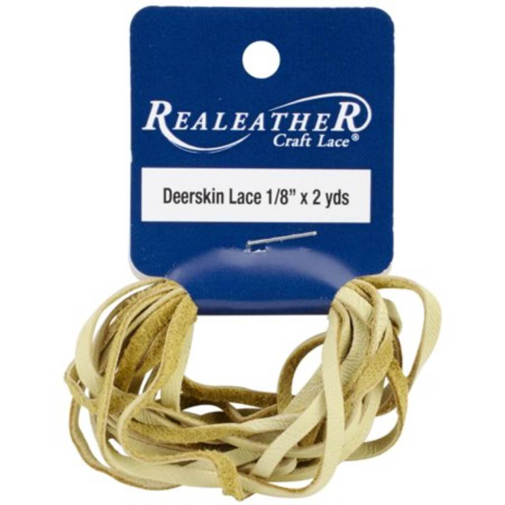 Realeather Crafts Deerskin Lace .125in x 2yd Packaged Duckskin