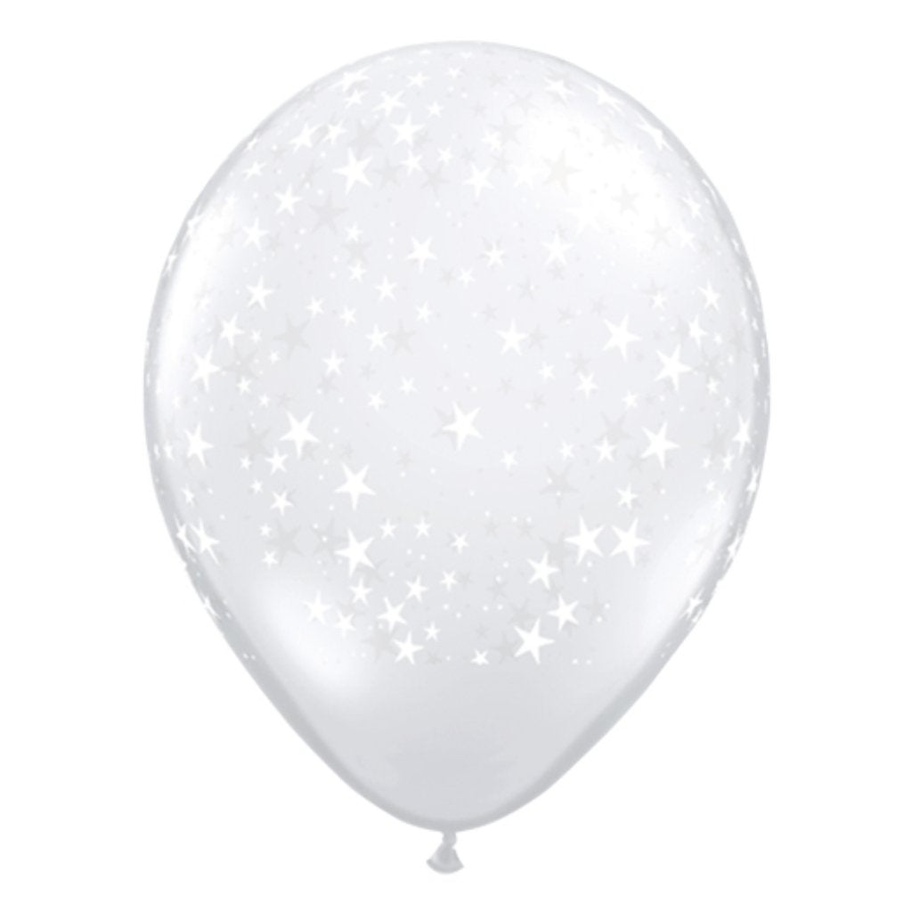 Latex Balloon Star Around Clear 11in