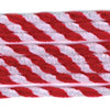 Twist Chenille Stems Red & White 8mm x 12in 12 pieces