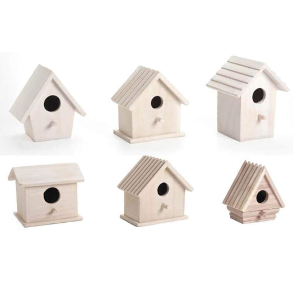 Wood Birdhouses Assorted