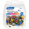 Assorted Color Thumb Tack Pack of 200