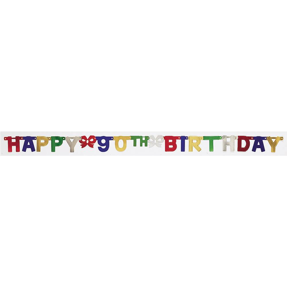 90th Birthday 6ft, Jointed Banner