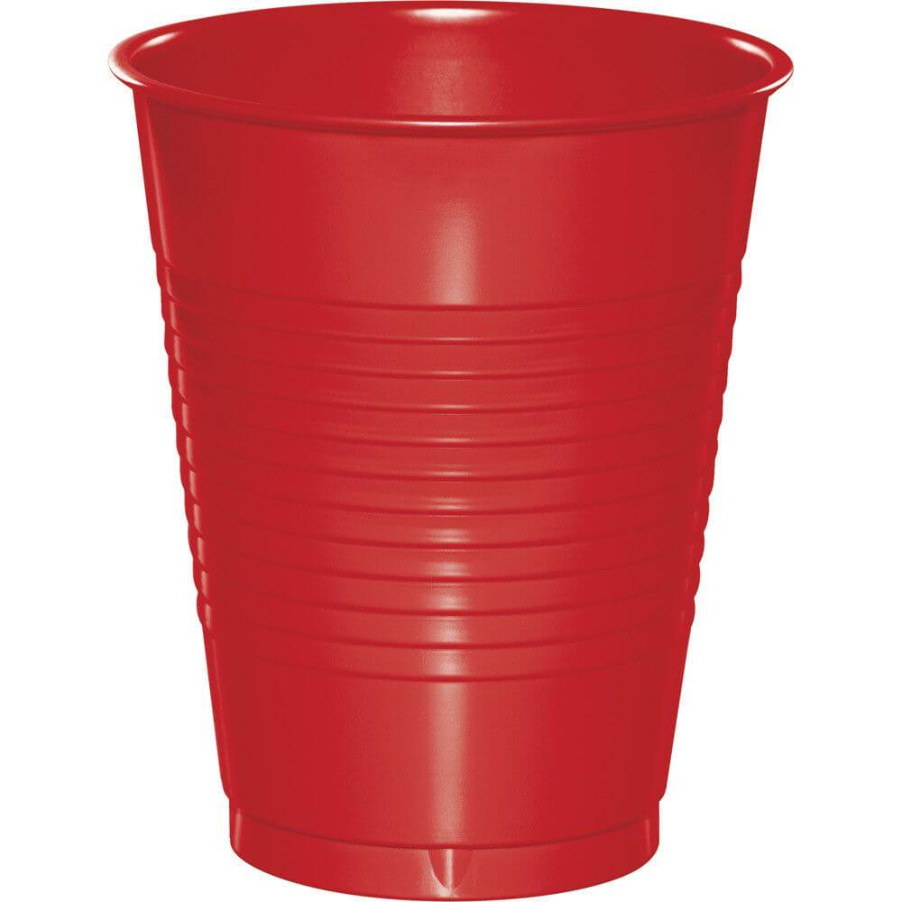 Classic Red Plastic Cups 16oz, 20ct,