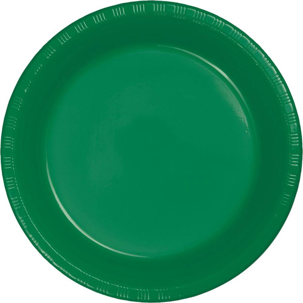 Emerald Green Plastic Lunch Plates 7in 20ct