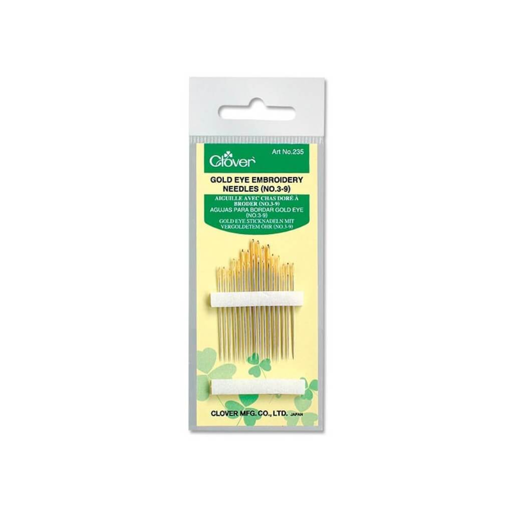 Gold Eye Embroidery Needles 3/9