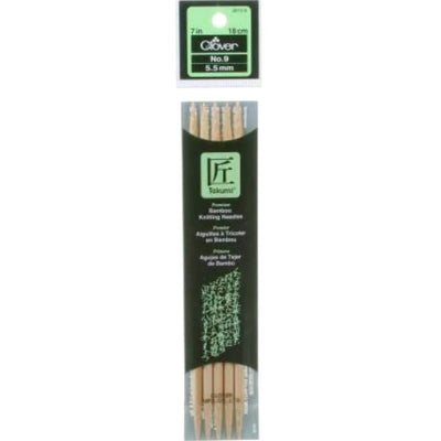 Bamboo Knitting Needles Double Pointed 7 Inch 5 pack