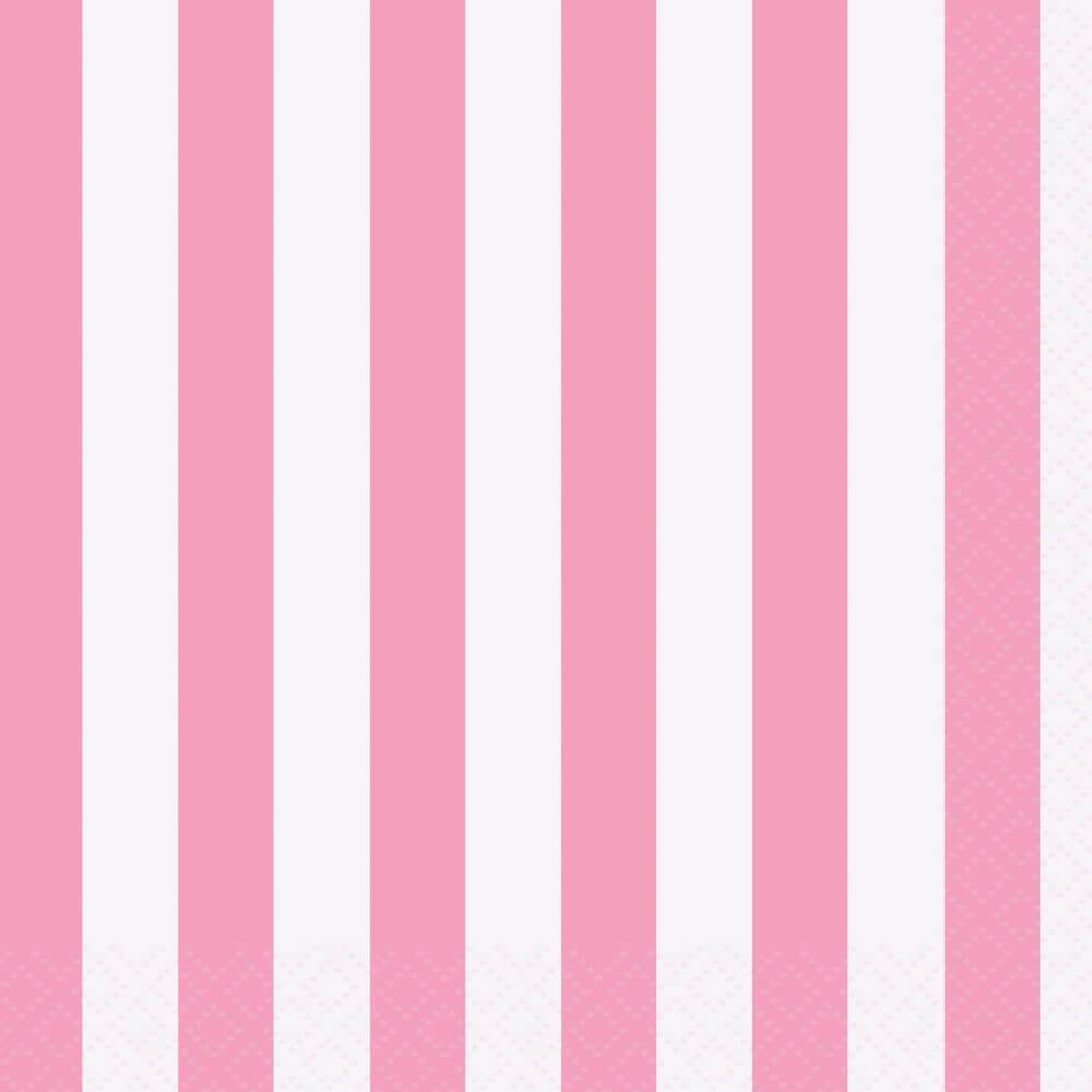 Lovely Pink Stripes Beverage Napkins, 16ct