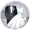 Silver Wedding Round Foil Balloon 18in