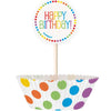 Rainbow Birthday Cupcake Kit, 24pc