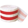 Ruby Red Stripes Crepe Streamer, 30 ft