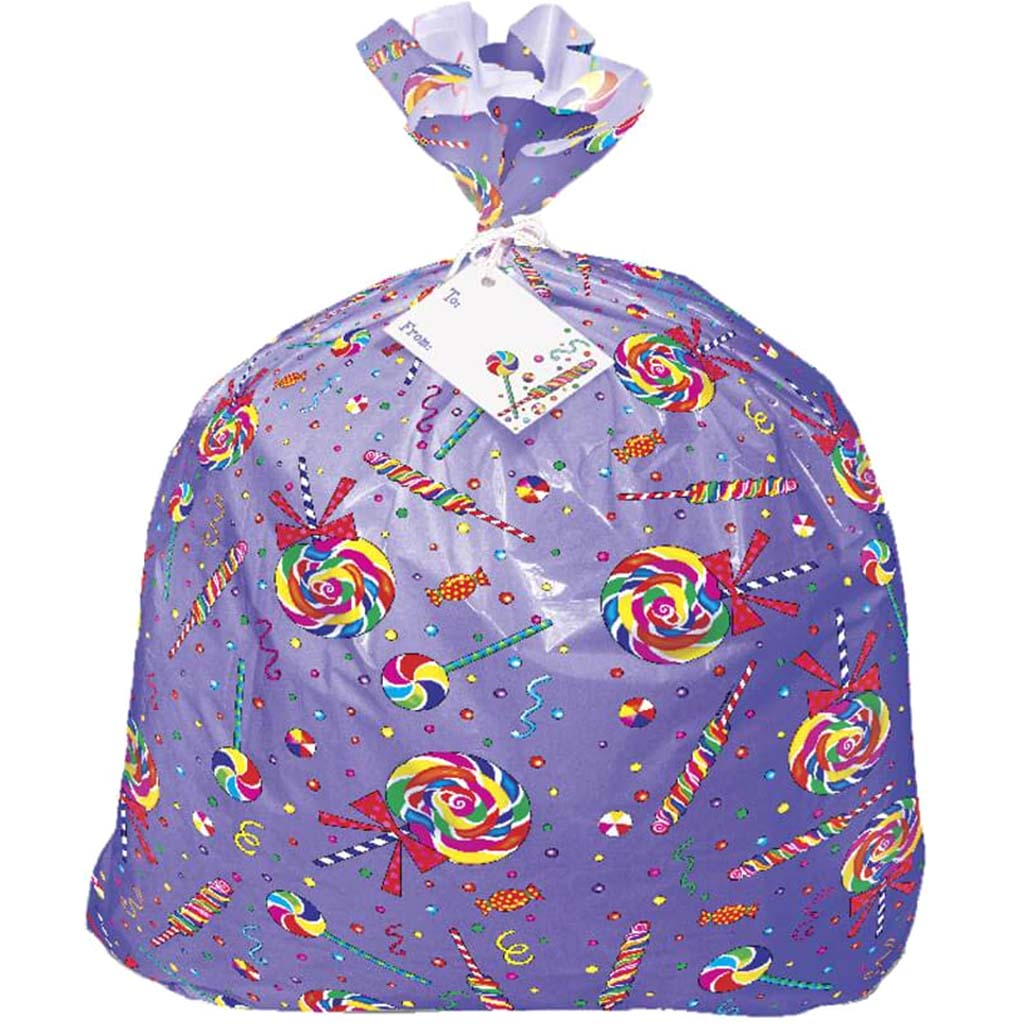 Candy Party Jumbo Plastic Gift Bag