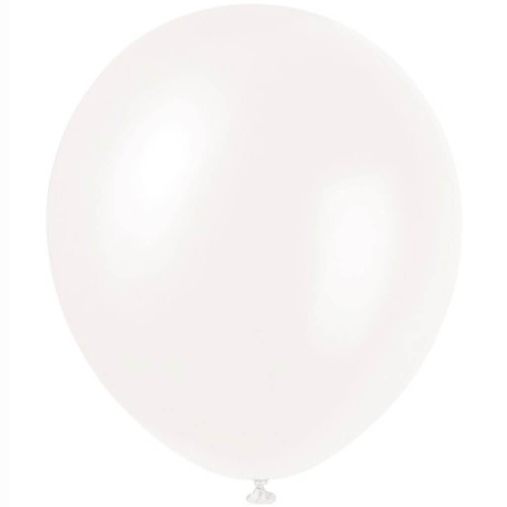 Balloons Winter Pearlized White 12in