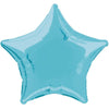 Baby Blue Solid Star Foil Balloon 20in