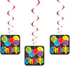 Congrats Large Hanging Swirl Decorations, 32in, 3ct